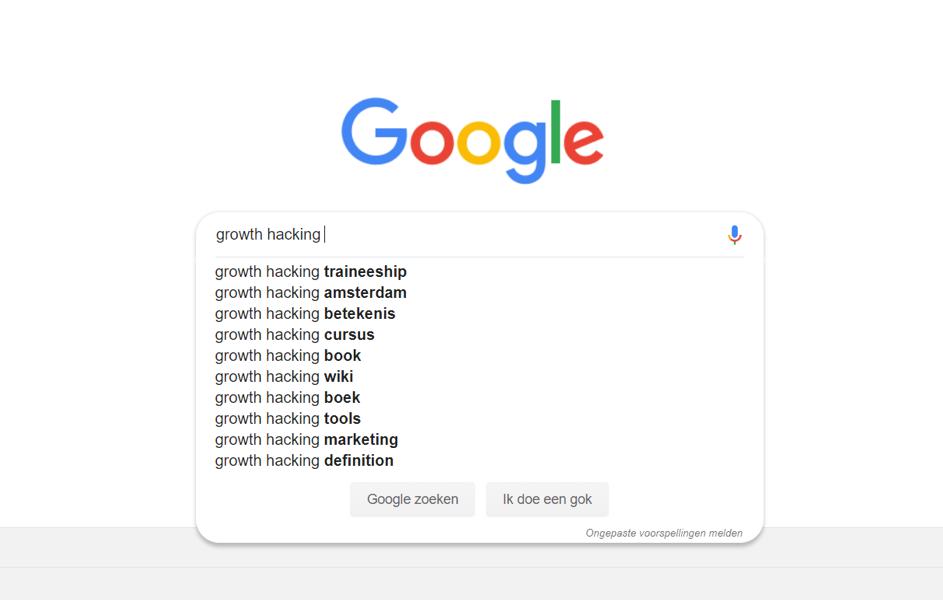 Zoekwoordenonderzoek Google